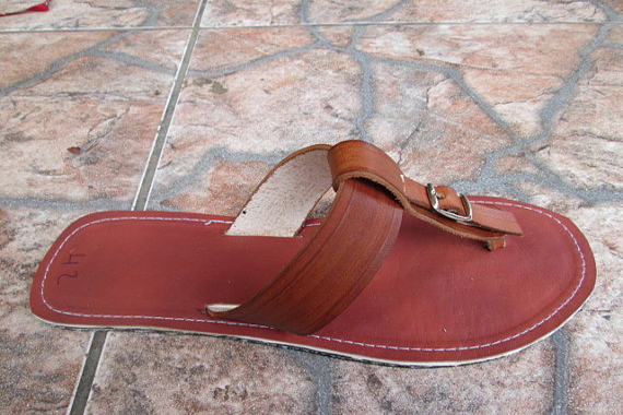 Black and Brown Sandals by Men