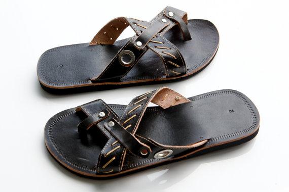 Leather Dark Men's Sandal Marcho 2