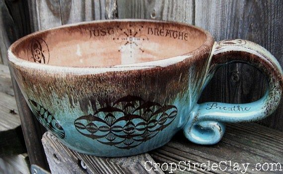 CropCircleClay-Breathe soup mug