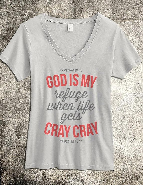 God is my Refuge - Women's Christian Shirt