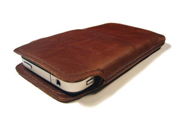 Iphone cowhide bag