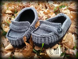 Men's Crochet Slippers - Crochet Loafers