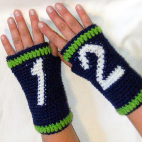 12th (Wo)Man Seahawks Fingerless Gloves