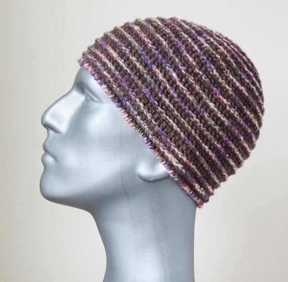 Men's Brown Beanie, Merino Wool Hat