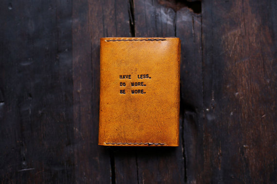 Mens Custom Leather Wallet